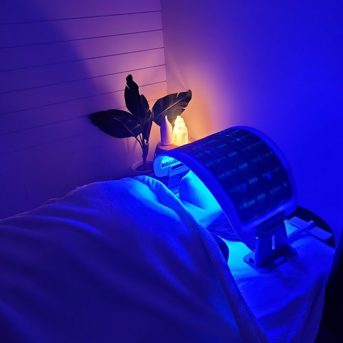 led light therapy microneedling